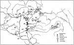 1. térkép. Az edénytörés szokásának alkalmai és elterjedése a magyar nyelvterületen (Barna Gábor nyomán)